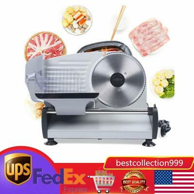 200w Electric Meat Slicer Deli Commercial Food Cheese Restaurant Cutter Blade