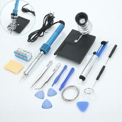 14in1 60w 110v Electric Soldering Iron Tools Welder Kit Set W Desoldering Pump