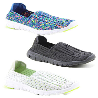 Womens Heavenly Feet Cosmos Elastic Slip On Trainer Flat Shoes Moc Boat Deck New Athletic Shoes For Flat Feet