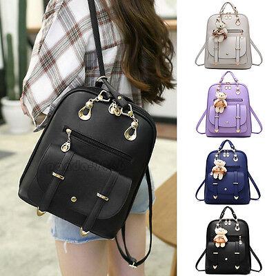 Womens Backpack Travel Pu Leather Handbag Satchel Rucksack Shoulder School Bag