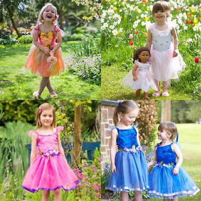 GIRLS KIDS DELUXE FLOWER FAIRY PRINCESS COSTUME PARTY DRESS OUTFIT AGE  2 3 4 5 ()