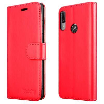 Case for Motorola Moto E6 Plus Phone Luxury Flip Leather Wallet E6 Plus Cover