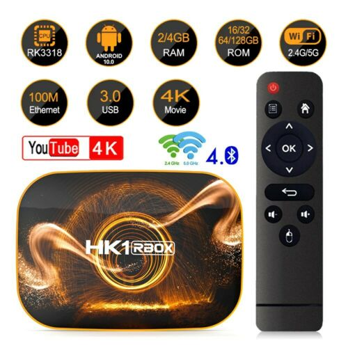 HK1 Pro Android 10.0 Quad Core 4GB+128GB 4K Smart 5G WIFI Media Streamer TV BOX Consumer Electronics