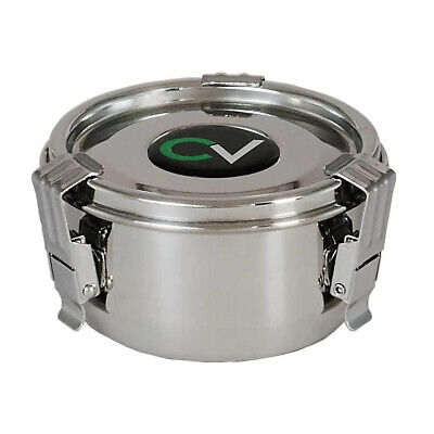 CVault 3.25 In Airtight Humidity Curing Humidor Storage Container, Steel (Small)