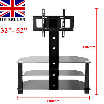 "Panana Glass TV Stand with Bracket for 32"" - 52"" Plasma LCD TV Black"