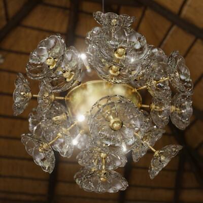 Lámpara de Techo Colgante Péndulo Luz Araña Cristal Elite Bohemia Flor Nuevo