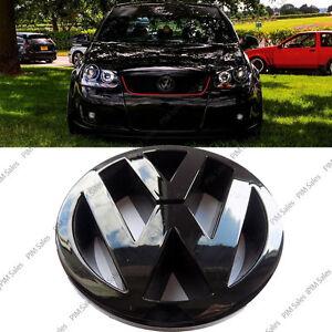 Volkswagen VW Golf Mk5 V Front Black Glossy Badge Logo Gloss Bonnet Emblem 125mm