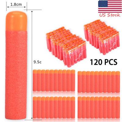 120PCS Red Refill Foam Bullet Darts Nerf N-Strike Elite Mega Centurion 9.5cm US