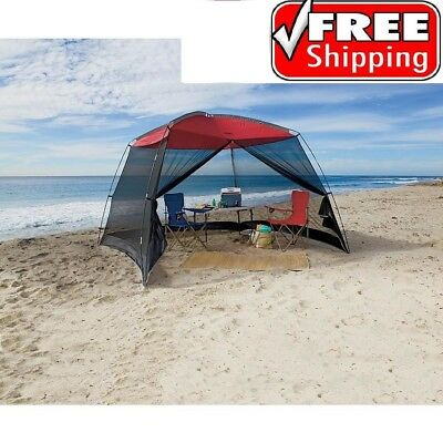 Screen House Canopy Tent 10x10 for Outdoor Sun Shade Beach Camping Shelter Large ()