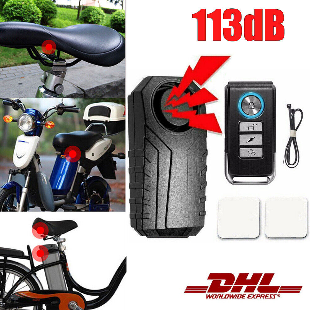 NEU 113dB Sicherheit Fahrradschloss Roller Alarmanlage Sirene Diebstahlschutz DE