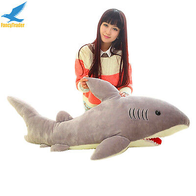Big Shark Plush Bed Soft Toys 51  Stuffed Animal Pillow Doll Giant Birthday Gift