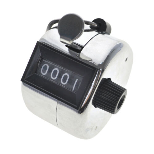 TOPTIE Metal Hand Tally Counter 4-Digit Mechanical Lap Clicker,Golf Number Count