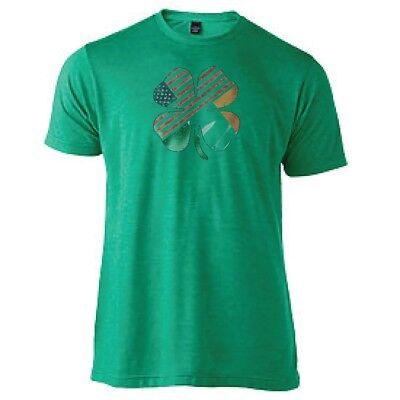 Irish American Flag Shamrock St Patrick's Day Sublimation Men's Tee Shirt  - St Patricks Shirts