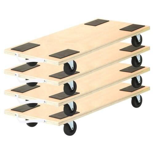 "4 Pack 23""x12"" Dolly Moving Cart Platform 450LB Rectangle Wood Mover Platforms"