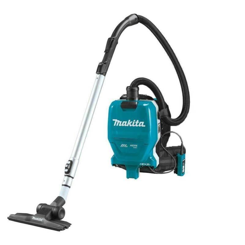 Makita XCV09Z 36 Volt X2 1/2 Gallon Brushless Backpack Dry Vacuum, Bare Tool