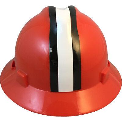 """MSA V-Gard FULL BRIM CLEVELAND """"BROWNS"""" NFL Hard Hat Type 3 RATCHET Suspension"""
