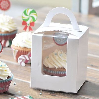 Party Container Portable Clear Pudding Wedding Candy Gift Cupcake Cake Box