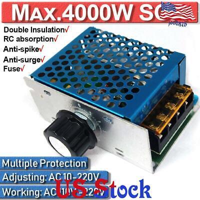 4000w 110v Ac Scr Voltage Regulator Dimmer Electric Motor Speed Control Module