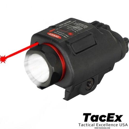 Combo Pistol LED Flashlight Red Laser Sight Pistol-Rifle CREE LED 20mm Rail