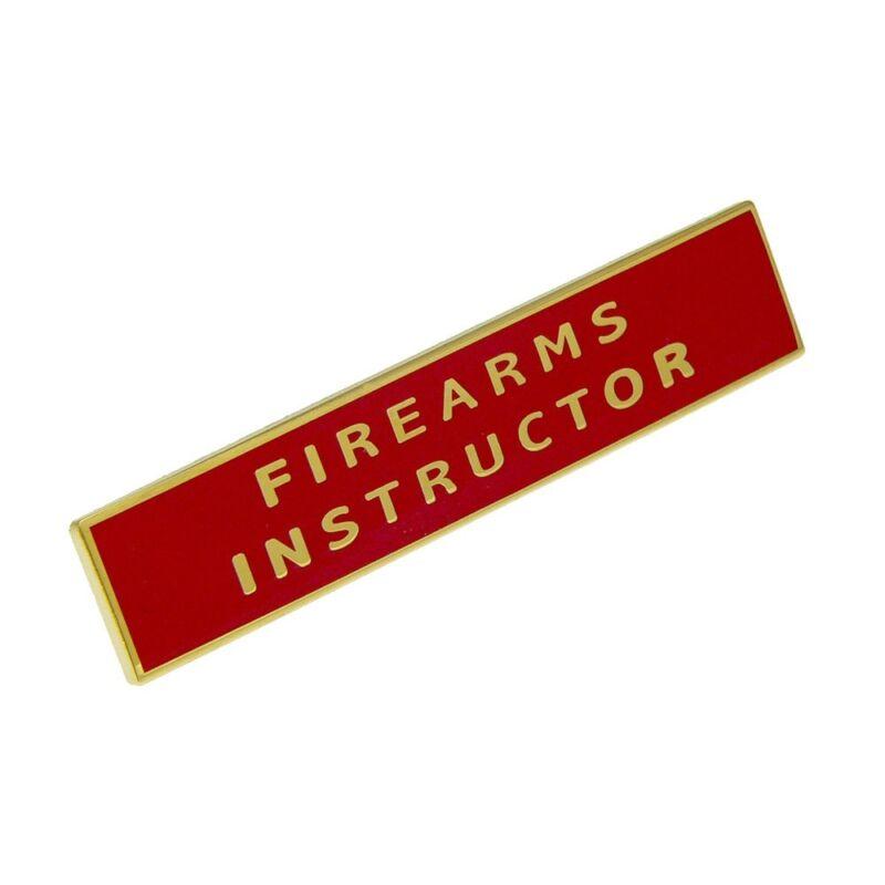 Firearms Instructor Citation Bar Police Merit Award Commendation Lapel Pin