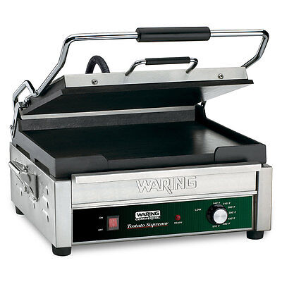 Waring Wfg275 Tostato Supremo 14 X 14 Flat Sandwich Panini Grill 120v