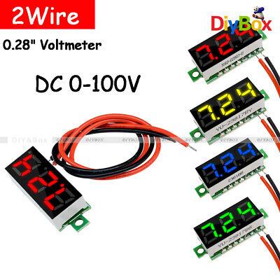 0.28inch Two Wire Lcd Mini Digital Dc Voltmeter Gauge Voltage Detector