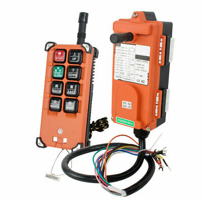 Portable Transmitter Receiver Hoist Crane Radio Wireless Remote Control F21e1b