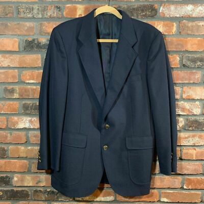 Arnold Palmer Navy Sport Coat Blazer Jacket 2-Button Lined Men's Sz 40R