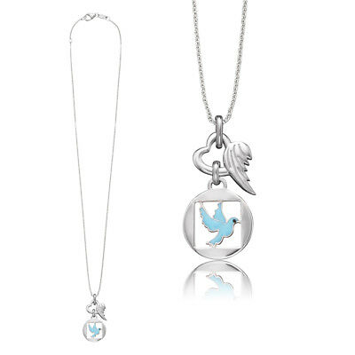 Herzengel Children Necklace with Pigeon as Symbol for Peace 37 +0 13/16in