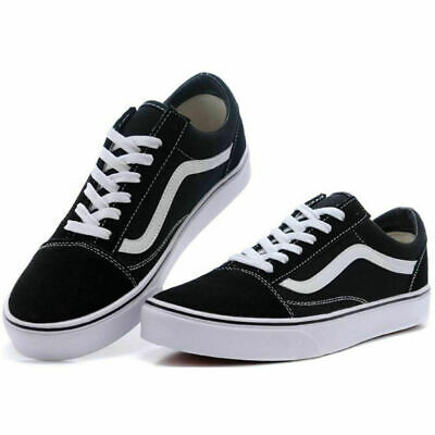 Vans Old Skool Skate Shoes Black/White Purple Light Security All Sizes