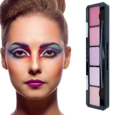 Lidschatten 5 Farben-Make Up-Eyeshadow-Highlighter Palette-Kosmetik Rosa - Make Up Palette