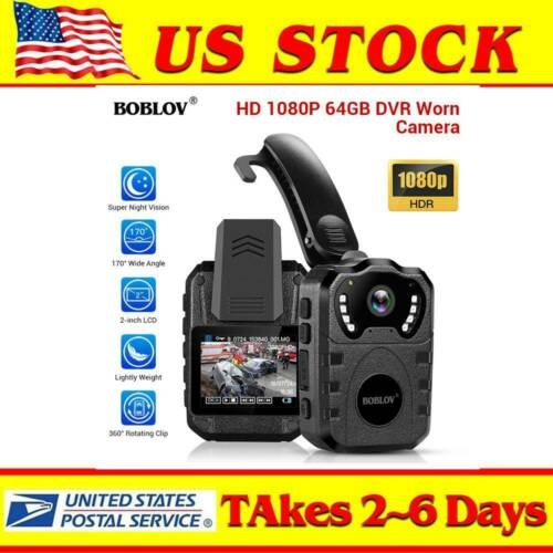 BOBLOV 1080P Police Body Camera Night Vision Law Enforcement