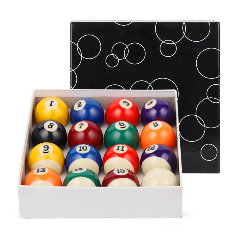 "2-1/4""Billiard Pool Balls Marble-Swirl Style Billiards Ball Complete 16 Ball Set"