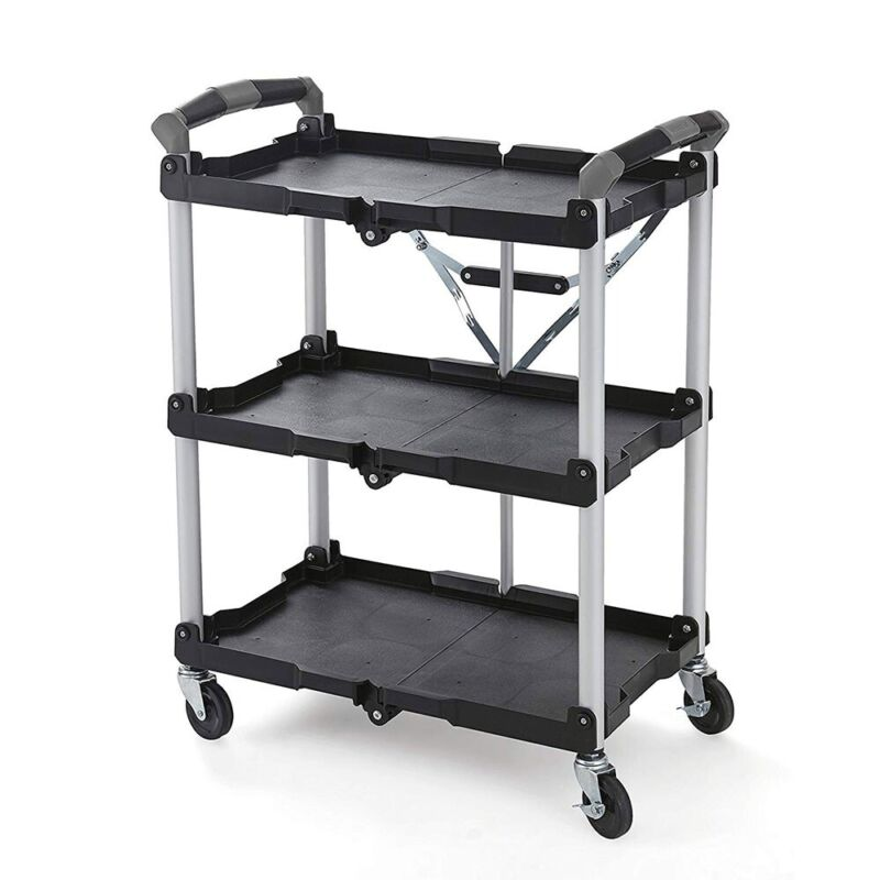 Olympia Tools 85 188 Pack n Roll Collapsible Storage Service Cart with Wheels