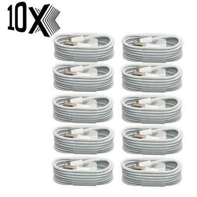 Apple 10x Sync & Charger USB Data Cable 1M For iPhone 5,6,7 8 Plus X Pack of 10