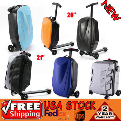 Scooter Luggage 20'' Scooter suitcase Kick-board Trolley Travel Carry Foot -