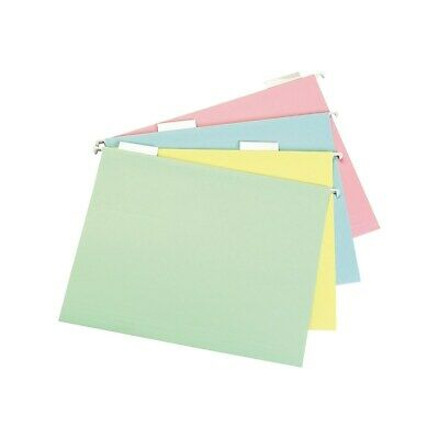 Staples Pastel Hanging File Folders 5 Tab Letter Size Assorted 20bx 459686