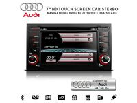 "7"" HD TouchScreen Car DVD CD Player Radio GPS Navigation USB SD Bluetooth Stereo For Audi A4 S4 RS4"