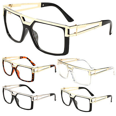 Non-Prescription Clear Lens Glasses Vintage Retro Hip Hop Rapper NERD fashion Retro Prescription Glasses