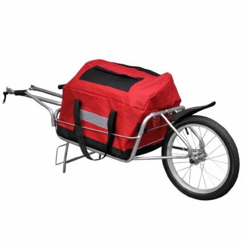 2IN1 Single Wheel Cargo Trailer w/Storage Bag Bike Bicycle Luggage Cart Carrier