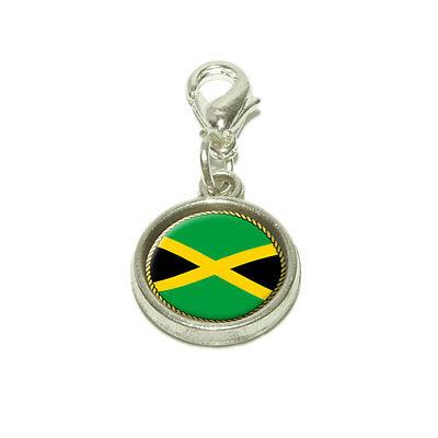 (Flag of Jamaica Dangling Bracelet Pendant Charm)