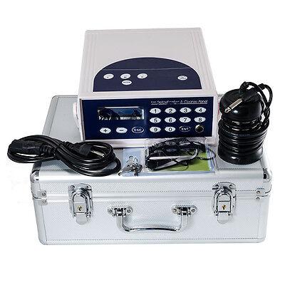 Detox Foot Bath Spa Machine Kit Cell Ion Ionic Aqua w/Case Cleanse Fir Belt