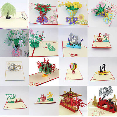 3D Pop Up Cards Carousel Lover Happy Birthday Wedding Anniversary Greeting Card  - Wedding Greeting Cards