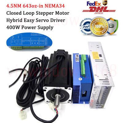 4.5nm Hybrid Closed-loop Nema34 Stepper Motor Easy Servo Driverpower Supply Set