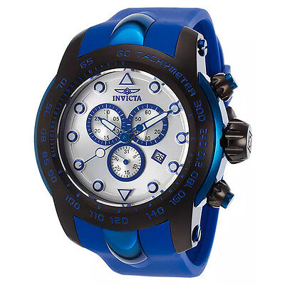 INVICTA  17809 MEN'S PRO DIVER CHRONOGRAPH  WITH SILVER DIAL AND SILICONE BAND