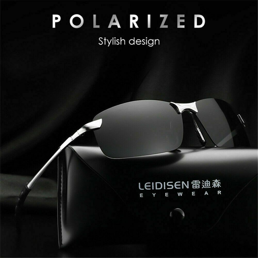 Tac HD Polarized Sunglasses Men Driving Cycling Sports Aviator Pilot Sun Glasses