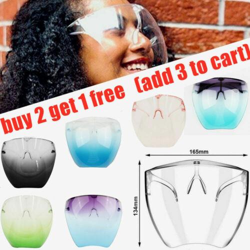 Clear Face Shield Face Mask Transparent Reusable Glasses Visor Anti-Fog Full USA