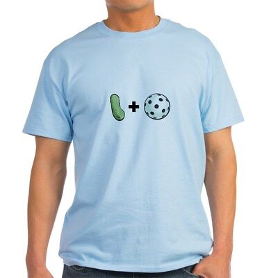 CafePress Pickle + Ball Ash Grey T Shirt 100% Cotton T-Shirt (69473645)