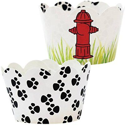 Wrapping & Packaging Paw Print Party Supplies, 36 Puppy Dog Theme Cupcake Rescue (Puppy Themed Party Supplies)