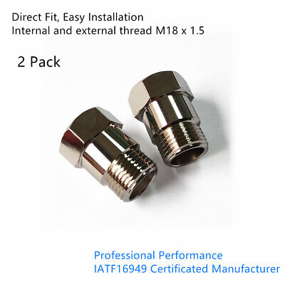 2* Straight O2 Oxygen Sensor Extension Spacer 45mm extender Adapter M18X1.5 CEL